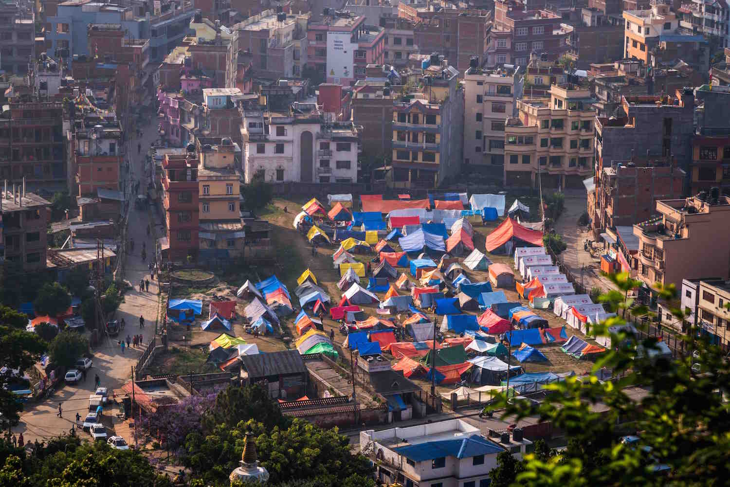 Earthquake Nepal April 2015 temporary shelters in Kathmandu Photo MA Sylvain
